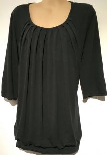 BLACK 3/4 SLEEVED SIDE ACCESS NURSING TOP SIZE XL 14-16